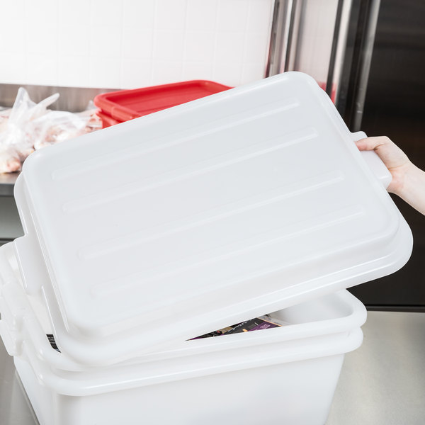 "Vollrath 1500-C05 Snap-On Food Storage Box Lid - Traex® Color-Mate White 20"" x 15"" x 2 1/2"""