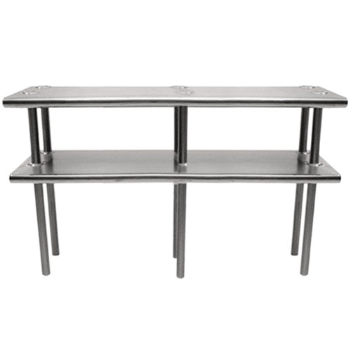 """Advance Tabco CDS-18-144 Stainless Steel Double Deck Overshelf - 144"""" x 18"""" x 30"""" Main Image 1"""