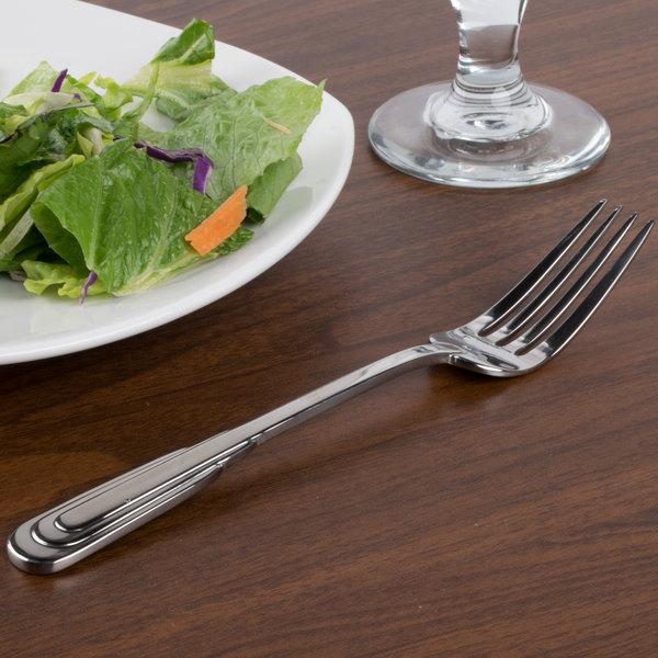"""Oneida 2507FDNF Cityscape 8 1/8"""" 18/10 Stainless Steel Flatware Dinner Fork - 36/Case"""