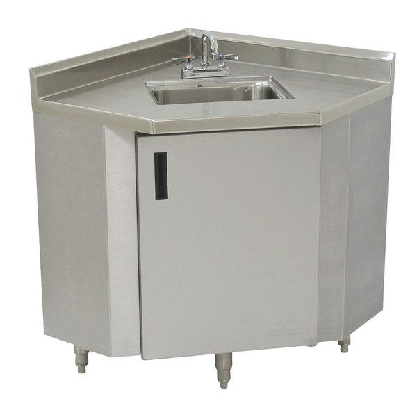 Stainless Steel Corner Sink Cabinet 24 Width Main Picture