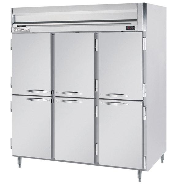 """Beverage-Air HRPS3-1HS Horizon Series 78"""" Solid Half Door All Stainless Steel Reach-In Refrigerator"""
