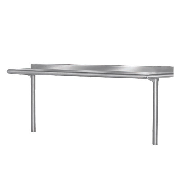 "Advance Tabco PT-10R-144 Smart Fabrication 10"" x 144"" Rear Mount Stainless Steel Shelf"