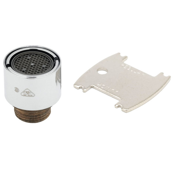 """T&S B-0199-21-VRM Vandal Resistant Laminar Control Device with 55/64""""-27 Male Adapter"""