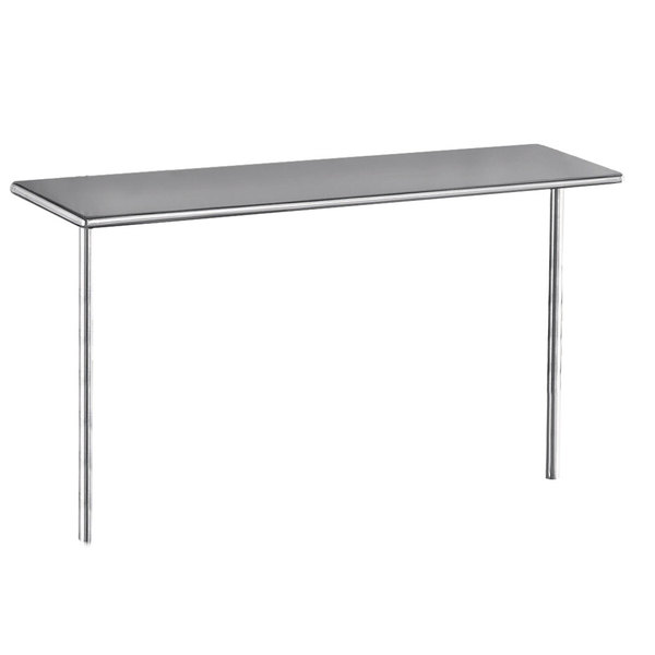 "Advance Tabco PT-15-132 Smart Fabrication 15"" x 132"" Middle Mount Stainless Steel Shelf"