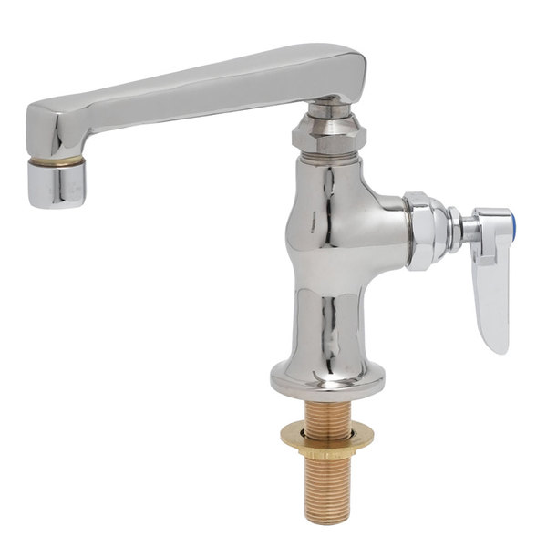 "Cold T&S B-0208 Deck Mounted Single Hole Pantry Faucet with 6"" Swing Nozzle and Eterna Cartridge"