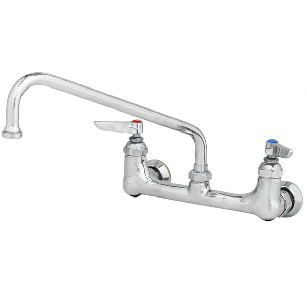"""T&S B-0231-EE Wall Mounted Pantry Faucet with 8"""" Centers, 12"""" Swing Nozzle, Eterna Cartridges, and EE Connections"""