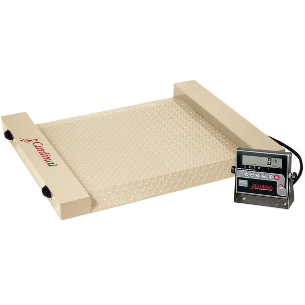 Cardinal Detecto RW-1000 1000 lb. Run-A-Weigh Receiving Scale - Powder Coated Steel Finish