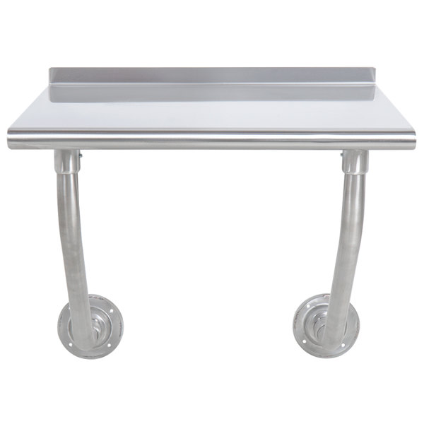 "Advance Tabco FSS-W-240 24"" x 30"" Stainless Steel Wall Mounted Table"