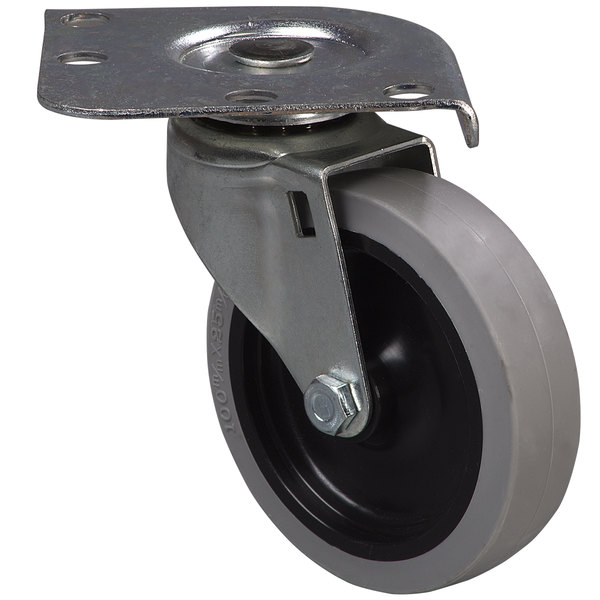 "Carlisle 4"" Replacement Non-Mark Swivel Plate Caster for Carlisle C220A, C2222A, DL300, and DL1826 Dollies"