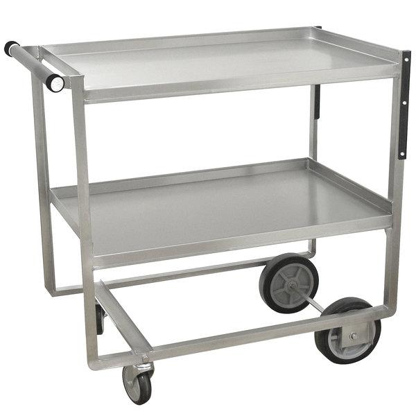 "Advance Tabco UCS-1 Stainless Steel Two Shelf Heavy-Duty Utility Cart - 39 1/2"" x 35 1/2"" x 21"""