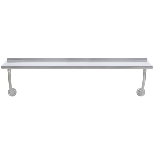 """Advance Tabco FSS-W-307 30"""" x 84"""" Stainless Steel Wall Mounted Table"""