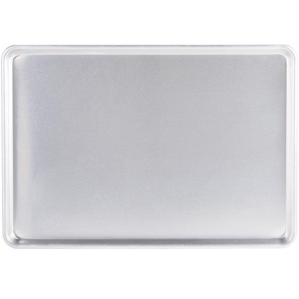 Full Size 12 Gauge 18 inch x 26 inch Sanitary Open Bead Rim Heavy Duty Aluminum Bun / Sheet Pan