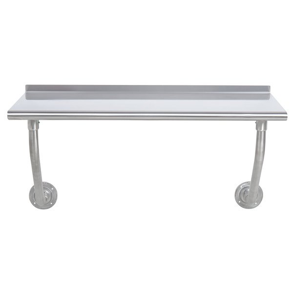 """Advance Tabco FSS-W-244 24"""" x 48"""" Stainless Steel Wall Mounted Table"""