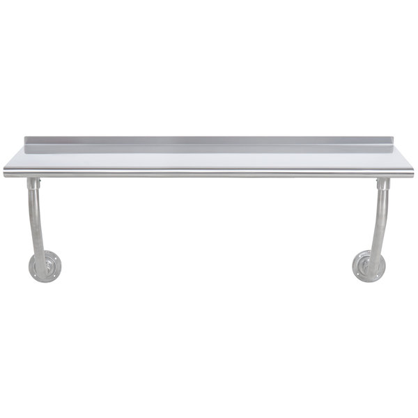 """Advance Tabco FSS-W-245 24"""" x 60"""" Stainless Steel Wall Mounted Table"""