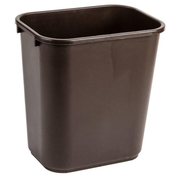 Continental 2818BN 28 Qt. / 7 Gallon Brown Rectangular Wastebasket / Trash Can