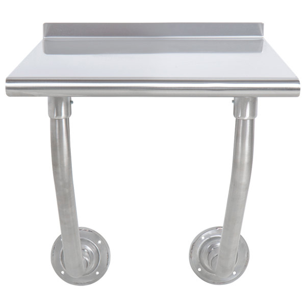 """Advance Tabco FSS-W-302 30"""" x 24"""" Stainless Steel Wall Mounted Table"""