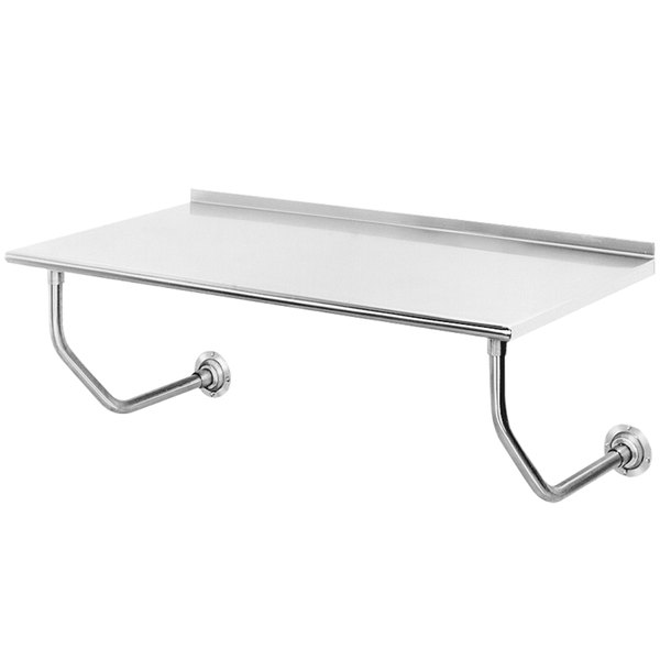 """Advance Tabco FSS-W-308 30"""" x 96"""" Stainless Steel Wall Mounted Table"""
