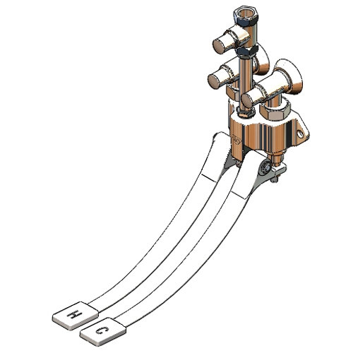 T&S B-0504-03 Double Pedal Valve with Loose Key Angle Stops