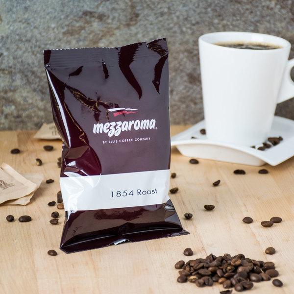 Ellis Mezzaroma 1854 Roast Ground Coffee 2.5 oz. Packet - 24/Case