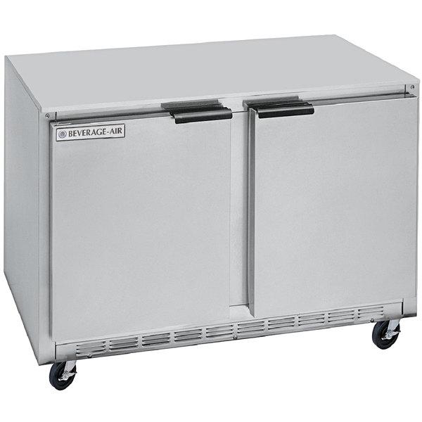 "Beverage-Air UCRF50A-1-SA-B 50"" Dual Temp Undercounter Refrigerator / Freezer Main Image 1"