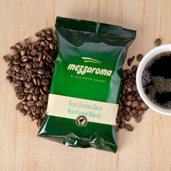 Ellis Mezzaroma 100% Rainforest Alliance Certified Dark Roast Ground Coffee 2.5 oz. Packet - 24/Case
