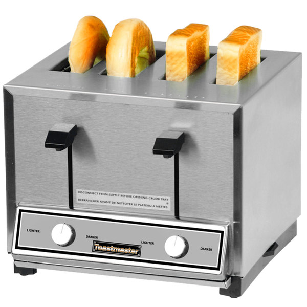 Toastmaster HT409 4 Slice Commercial Combination Bread and Bagel Pop-Up Toaster - 120V, 2000W