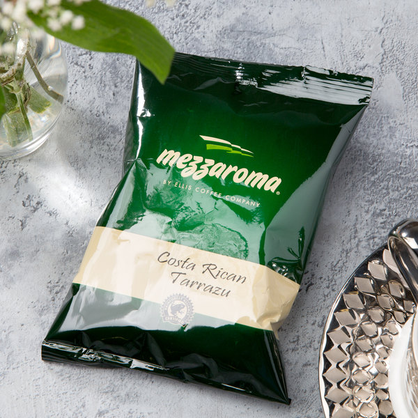 Ellis Mezzaroma Costa Rican Tarrazu Ground Coffee 2.5 oz. Packet - 24/Case