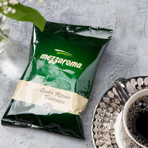 Ellis Mezzaroma 2.5 oz. Costa Rican Tarrazu Coffee Packet - 24/Case