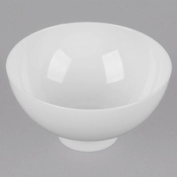 Fineline Tiny Temptations 6208-WH 2 oz. White Plastic Tiny Bowl - 10/Pack