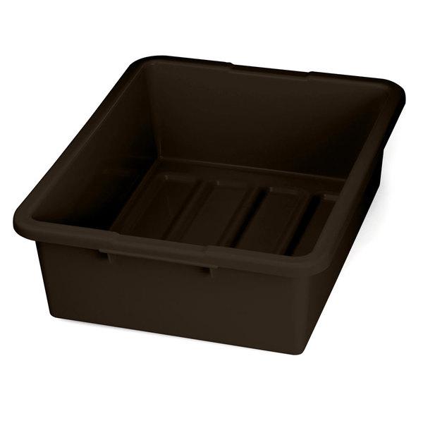 """Tablecraft 1557BR Brown 21"""" x 17"""" x 7"""" Heavy Duty Polyethylene Plastic Bus Tub, Bus Box"""