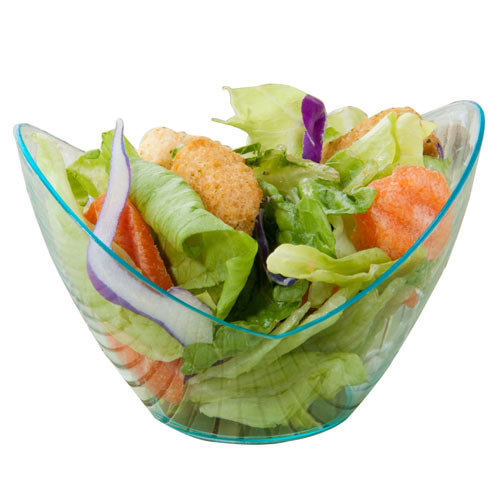 "Fineline 6302-GRN Tiny Temptations 3 1/2"" x 2 5/8"" Tiny Tureens Green Plastic Bowl - 12/Pack"