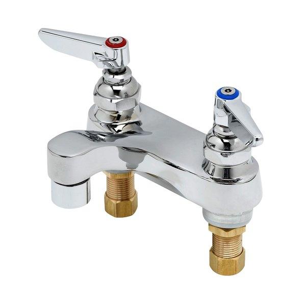 "T&S B-0871-VRS Vandal Resistant 2.2 GPM Deck Mount Centerset Faucet with 4"" Centers and Eterna Cartridges"