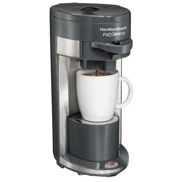 Hamilton Beach 49963 Gray FlexBrew Single Serving Coffee Maker - 120V
