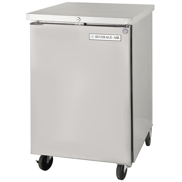 """Beverage-Air BB24F-1-S 24"""" Stainless Steel Food Rated Solid Door Back Bar Cooler"""