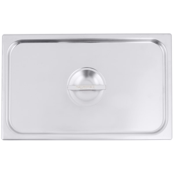 Vollrath 77250 Super Pan V Full Size Solid Stainless Steel Steam Table / Hotel Pan Cover