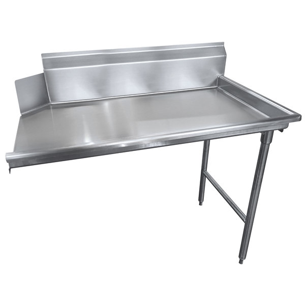 Right Drainboard Advance Tabco DTC-S30-84 Spec Line 7' Stainless Steel Clean Straight Dishtable