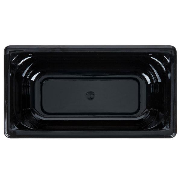 """4/"""",Restaurant Pan Vollrath PLASTIC Black Super Pan 3 High Temp 1//3 Pan"""