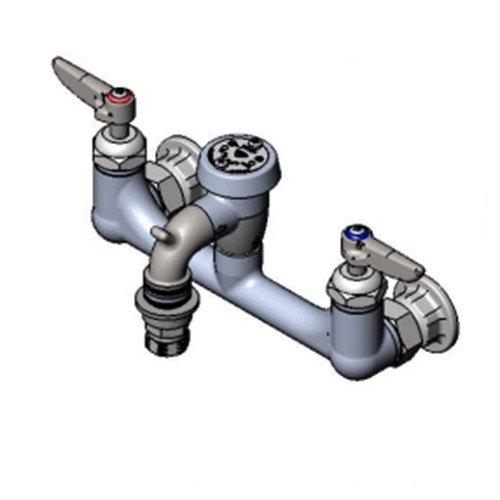 T Amp S B 2271 Cr Wall Mount Rough Chrome Service Sink Faucet