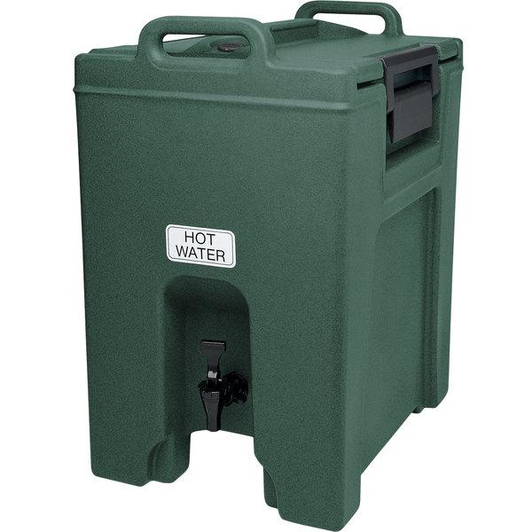 Cambro UC1000192 Ultra Camtainer 10.5 Gallon Granite Green Insulated Beverage Dispenser