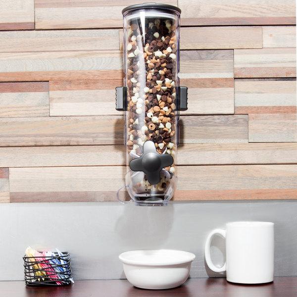 Zevro KCH-06138 SmartSpace 4 Liter Single Canister Wall Mount Dry Food Dispenser Main Image 9