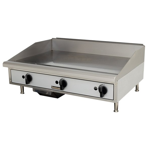 Toastmaster TMGM36 36 inch Gas Countertop Griddle - Manual Controls