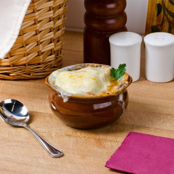 Core 12 oz. Brown China Onion Soup Crock / Bowl - 24/Case