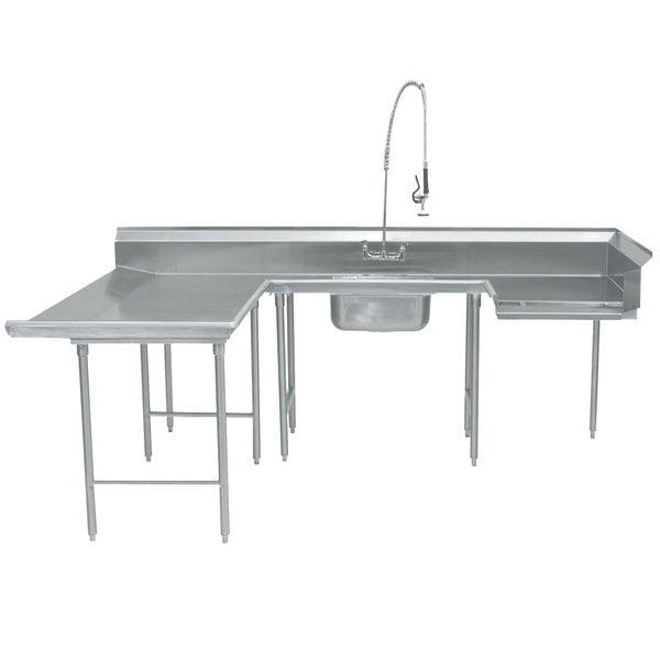 """Left Table Advance Tabco DTS-U30-108 108"""" U Shape Soil Dishtable"""