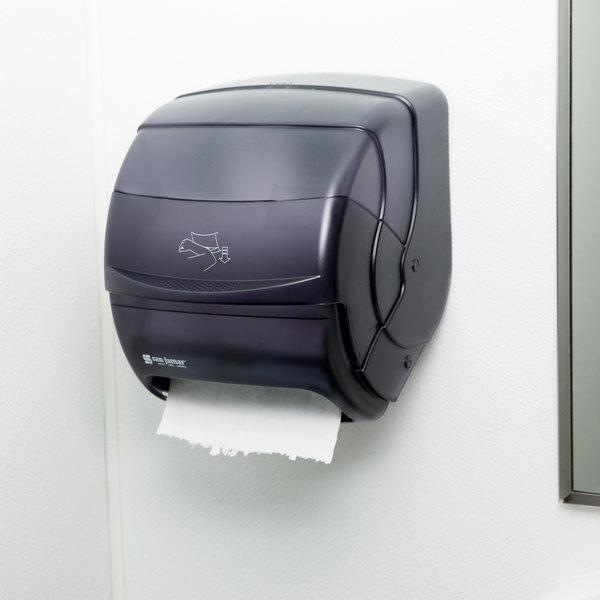 San Jamar T850TBK Integra Plastic Roll Towel Dispenser - Black Pearl