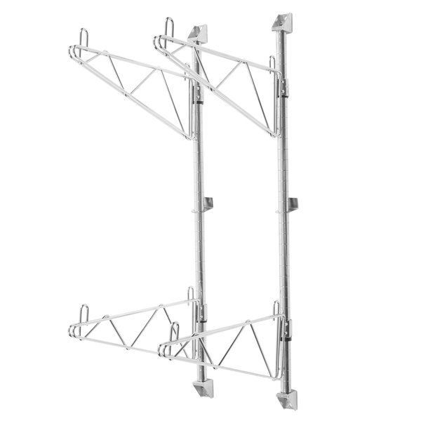 """Advance Tabco AB2-14 End-Mounted Shelving System for 14"""" Chrome Wire Shelves"""