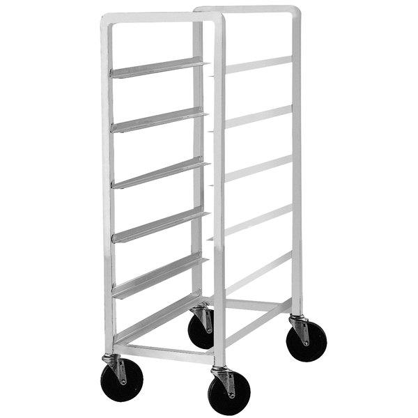 "Advance Tabco PL6-12 Half Height Aluminum Platter Cart - Six 12"" Trays Main Image 1"