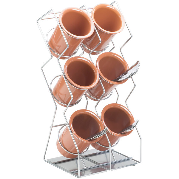 Cal-Mil 1025-6-39 Silver Six Compartment Vertical Wire Display