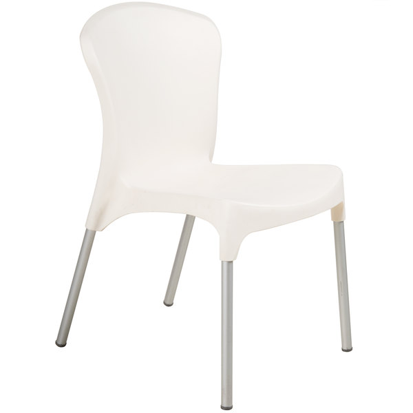 Stackable Resin Side Chair Cream Main Picture
