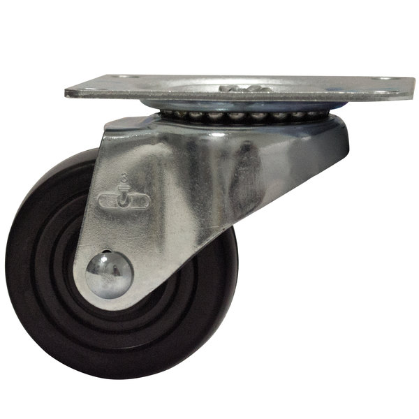 "Advance Tabco RA-50 3"" Bun Pan Dolly Swivel Plate Caster"