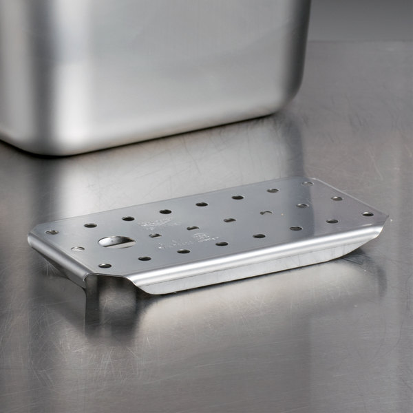 Vollrath 70400 False Bottoms 1/4 Size Stainless Steel Drain Tray for Super Pan 3